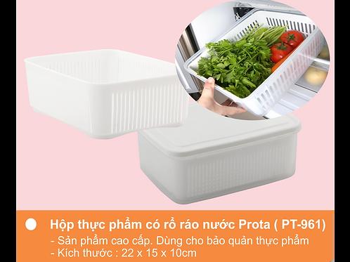 Hộp đựng thực phẩm có rổ ráo nước Prota