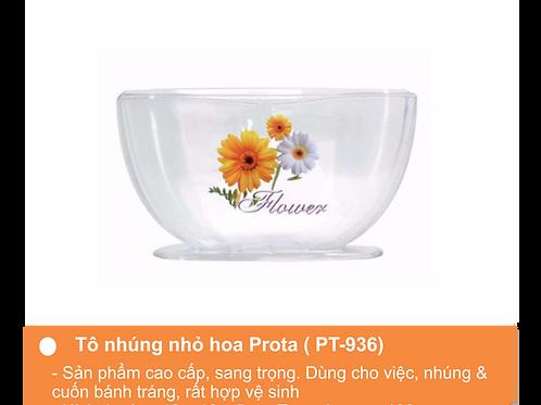 Tô nhúng bánh tráng 3 ngăn hoa nhỏ Prota
