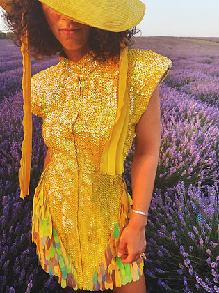 Acid Yellow Disuko Dress