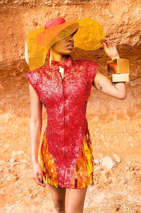 DISUKO DRESS RED