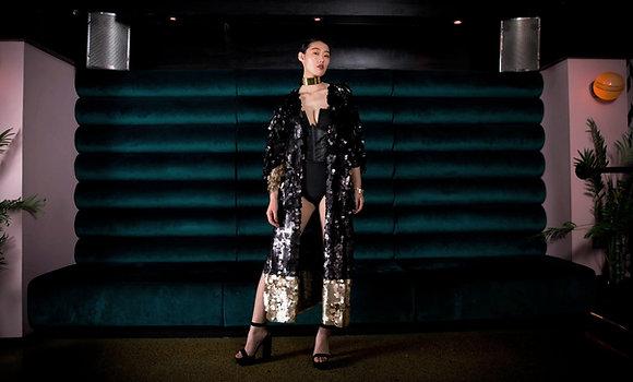 Roma Black/Gold Kimono