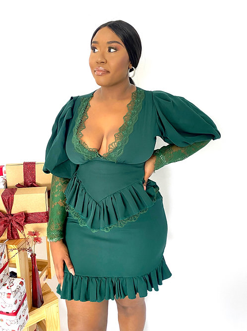 EVA DRESS GREEN