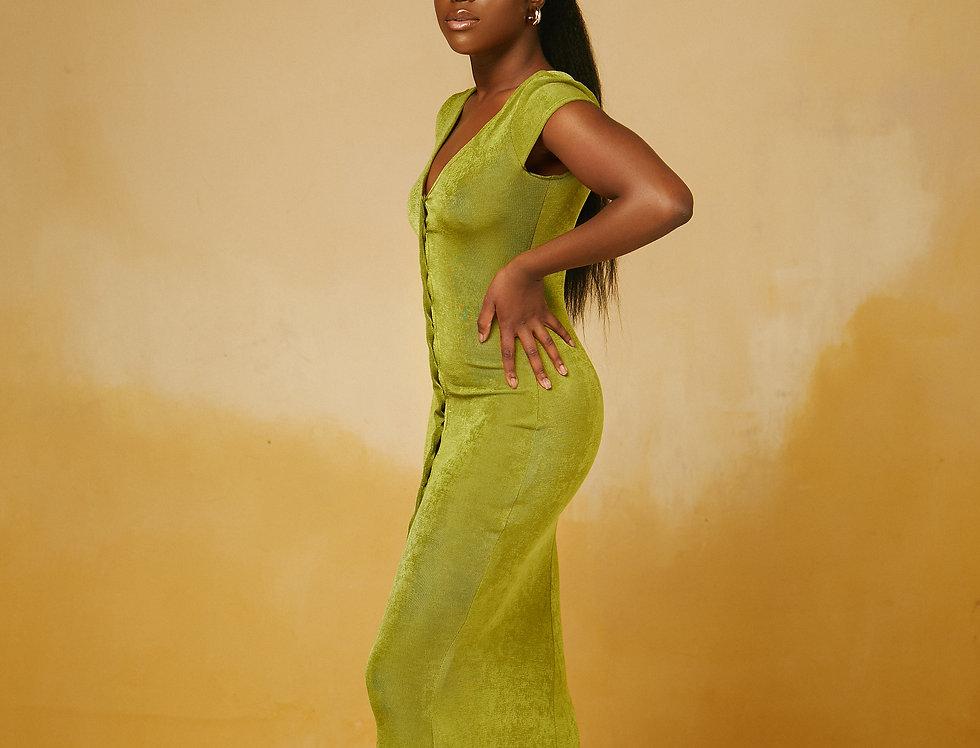 IRIS DRESS OLIVE