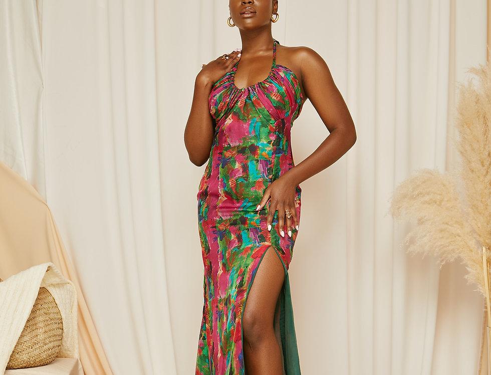 ROBBIE DRESS | Riviera Green print
