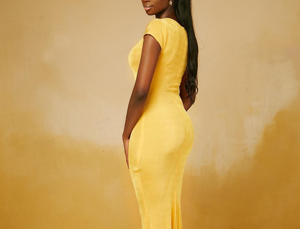 IRIS DRESS YELLOW
