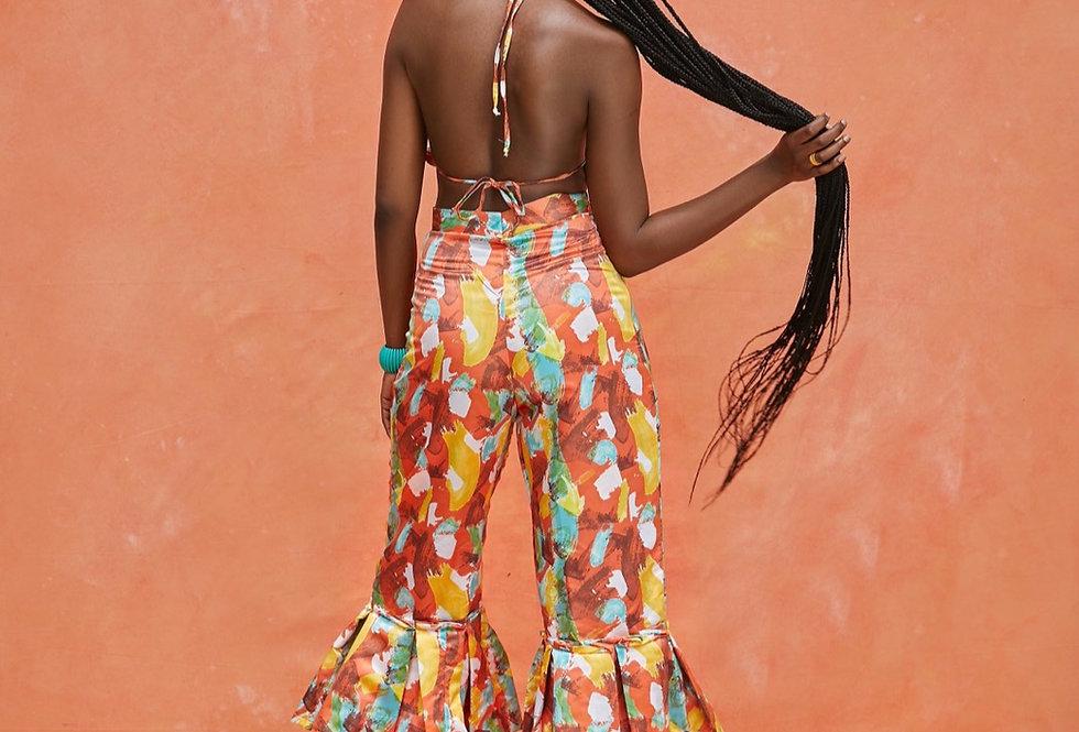 JACKIE SET | Riviera orange print