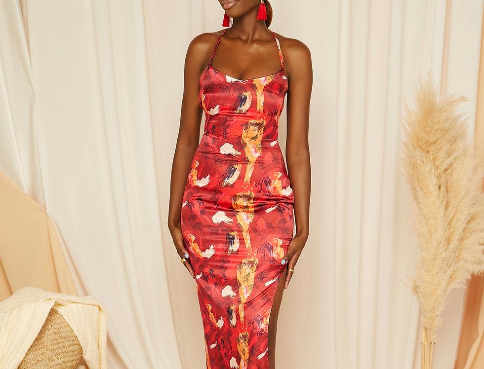 SAMIRA DRESS | Riviera Red print