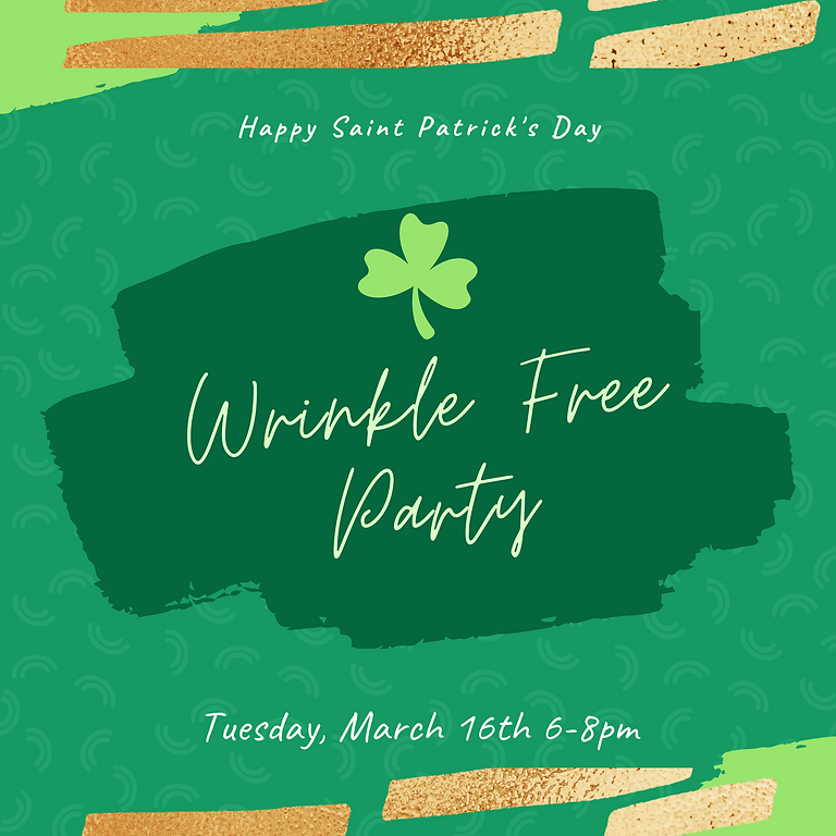 Saint Patrick's Day Wrinkle Free Party