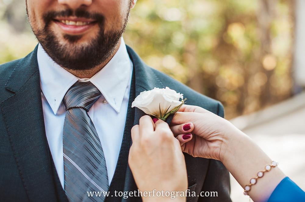 Cerimonia de casamento , Casamento de dia, Together fotografia, lapela do noivo