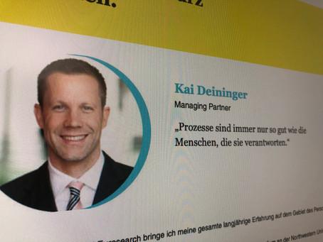3 Fragen an einen der führenden Personalberater Deutschlands: Kai Deininger