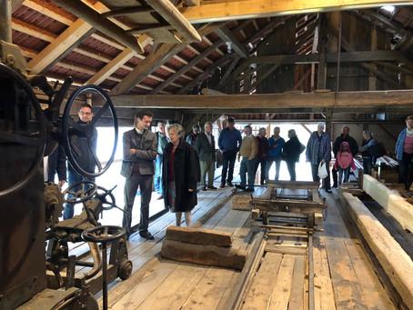 Video: Die historische Säge in Betrieb am Tag des offenen Denkmals