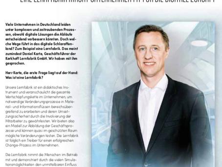 Spielerisch Lernen. Daniel Karte, Geschäftsführer der Kerkhoff Lernfabrik im Interview.