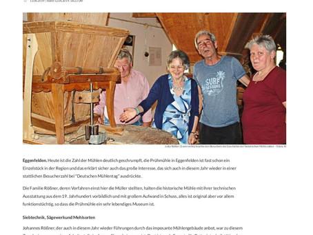 Die Passauer Neue Presse über den Mühlentag in der Prühmühle