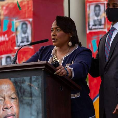 Dr. Bernice King's Eulogy For John Lewis Doubled As A Call To Keep Getting In 'Good Trouble'...