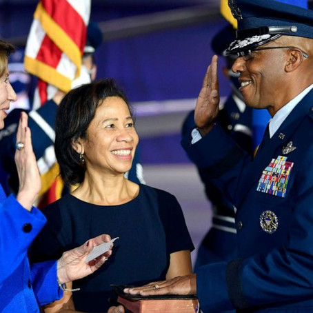 General Charles Q. Brown Sworn In As First Black Air Force Chief Of Staff