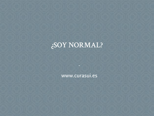 ¿Soy normal?