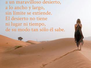 El camino te conduce a un maravilloso desierto