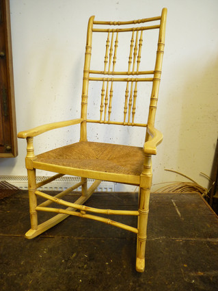 Faux Bamboo Rocking Chair.