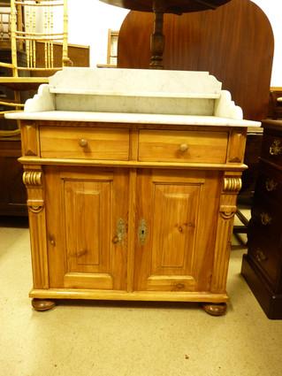 Marble & Pine Bathroom Cabinet.