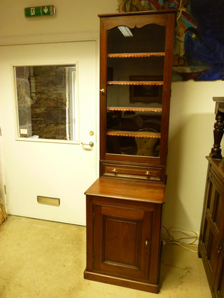 Walnut Bookcase.