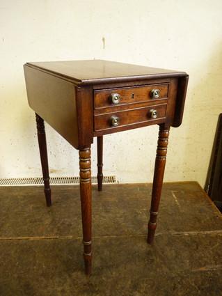 Small Oak Pembroke Table.