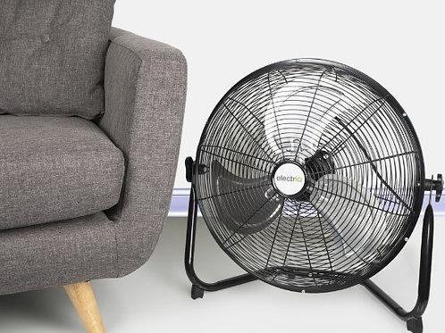 electriQ 18 inch Black High Velocity Floor Fan