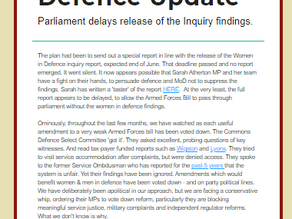 Women in Defence report delayed - special report