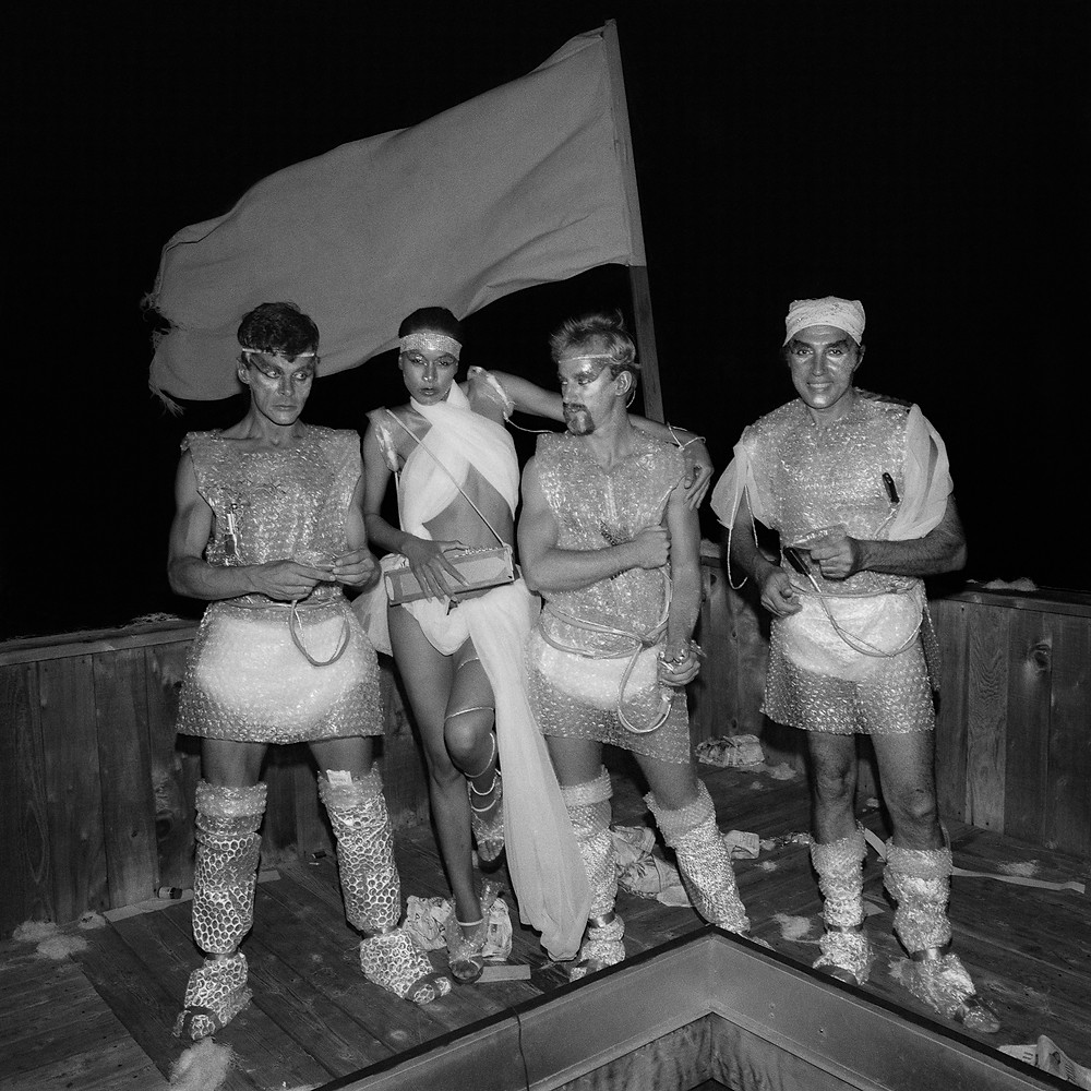 © Meryl Meisler, Four on Deck at Star Wars Party, 1977