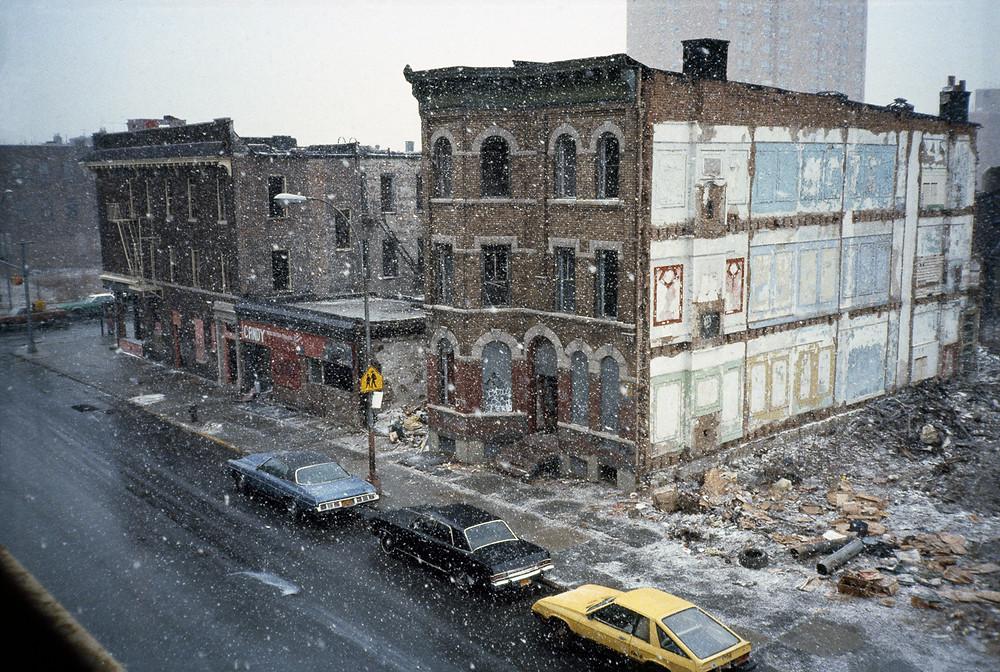 © MMeryl Meisler, Spring Snowstorm Through Classroom Window, 1982