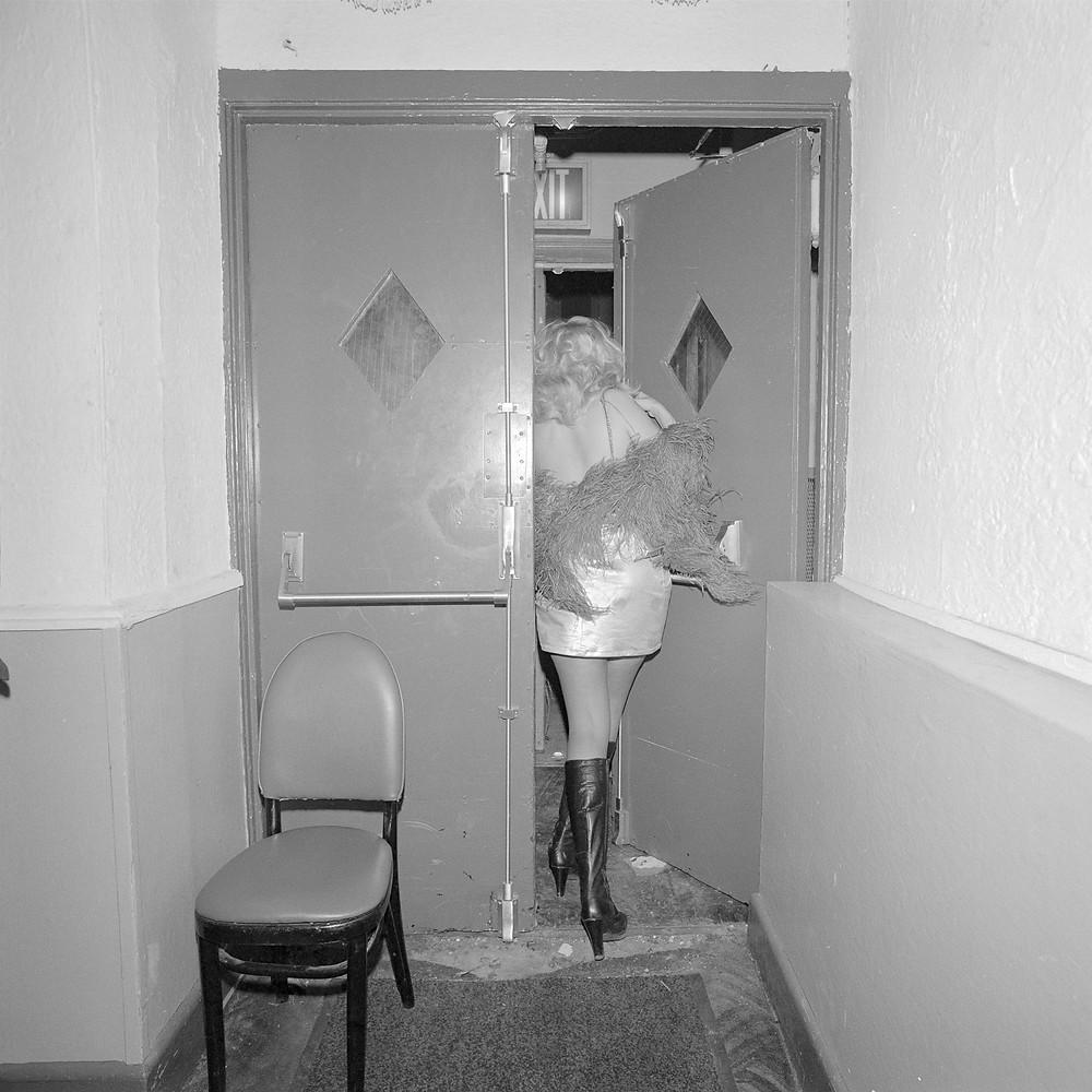 © Meryl Meisler, Back Doorway at COYOTES Hookers Masquerade Ball, 1978