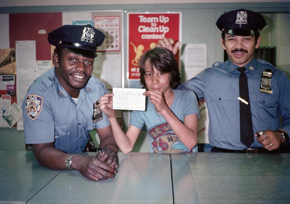 © Meryl Meisler, Student Interviews Police Officers, 1982