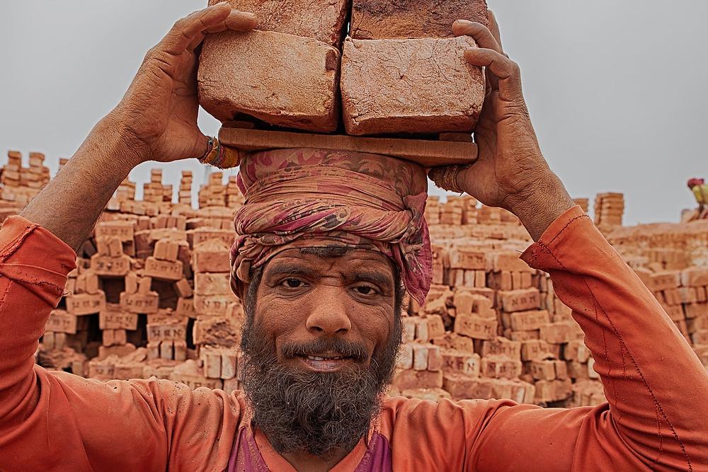 Brick factory in Bangladesh