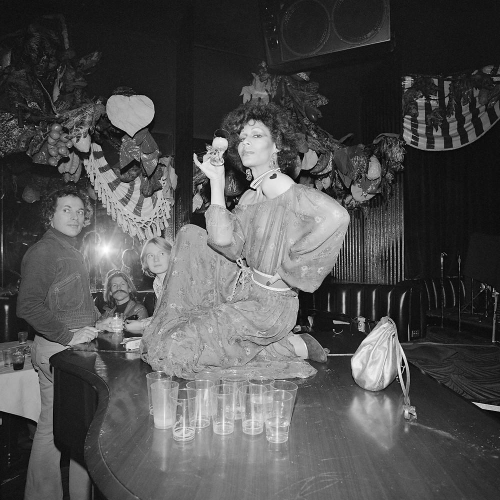 © Meryl Meisler, Potassa Potassa de la Fayette Poised on Grand Piano, 1977