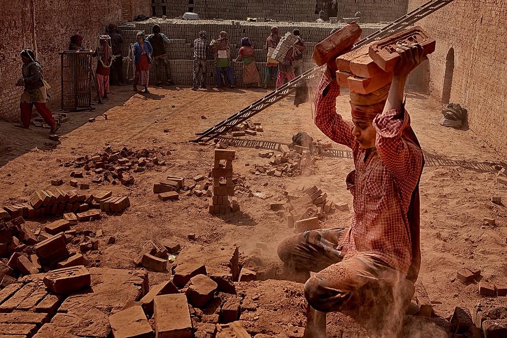 Brick factory workers in Nepal