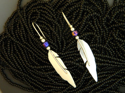 Beads and Feathers Earrings