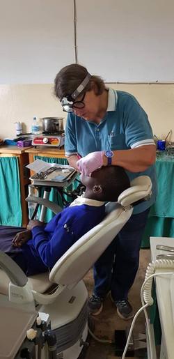 Dr bodil treating a school kid Nov 2018.