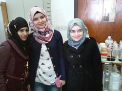 Rana and Chemistry Students