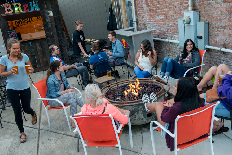 Relax on the Patio at BREW - DT Indy