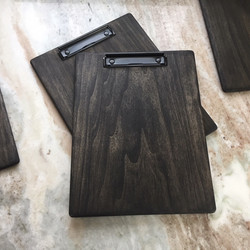 Clipboard with grey stain