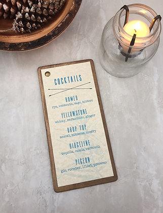 Wooden Menu Board