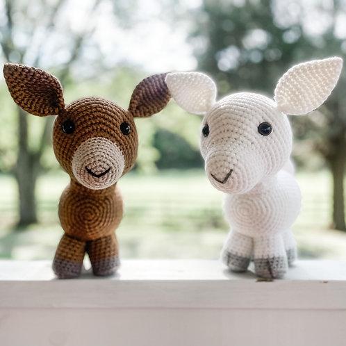 Hand Crocheted Goats