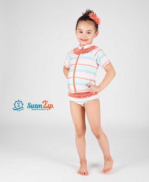 Swimzip Long Sleeve Rash Guard Swimsuit 2pc Set Hotel
