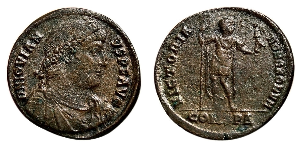 Double Maiorina coined on behalf of the emperor Jovian