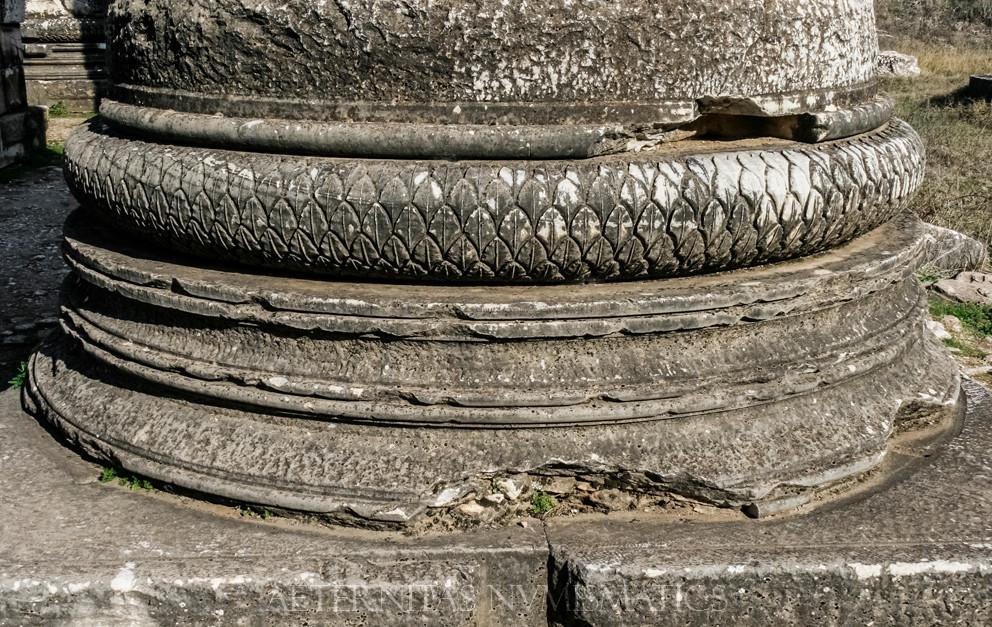 Bases of the Roman columns Artemis Temple, Sardes