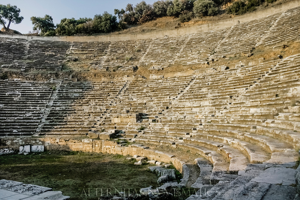 caveas of Nysa theater, Turkey