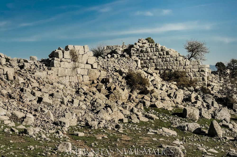 Wall of Neandria in Turkey