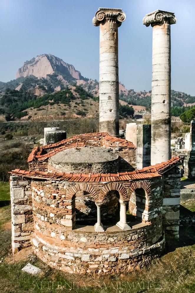 The church at Sardes in Turkey