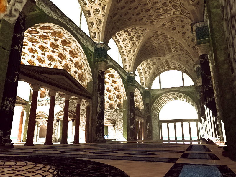 Virtual reconstruction of the Basilica of Maxentius (IVth century a.C.)