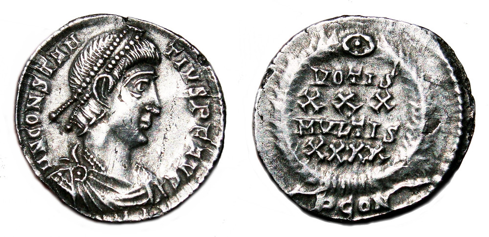 siliqua minted in the first office of Arelate in the name of Constantius II (355-360).