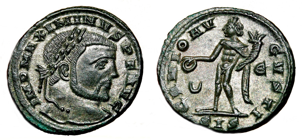 Follis coined in the fifth office of Siscia